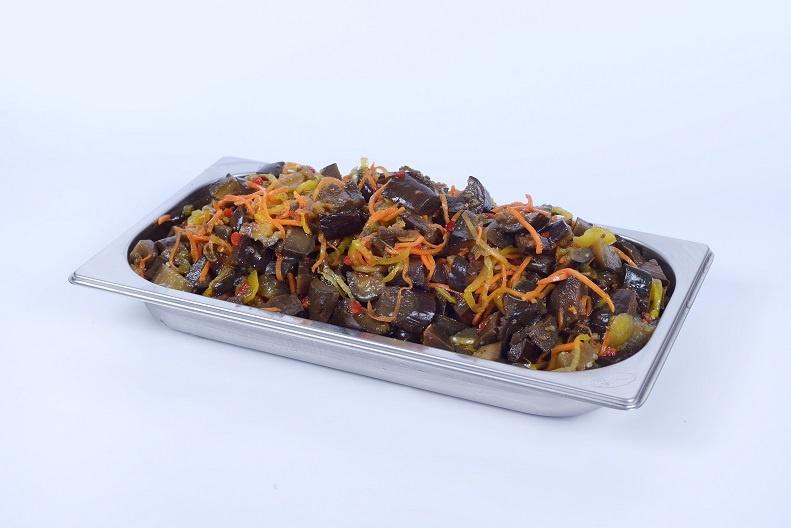 Баклажани мариновані з овочами