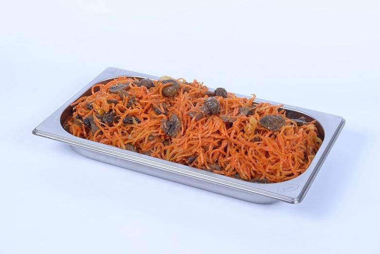 Корейская морковь с шампиньонами