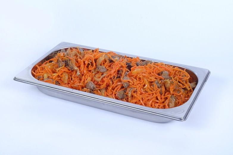 Корейская морковь с вешенками