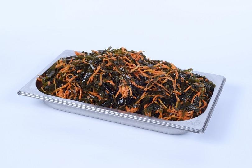 Салат с морской капусты с морковью по-корейски